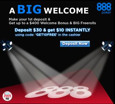 888 casino first deposit bonus code