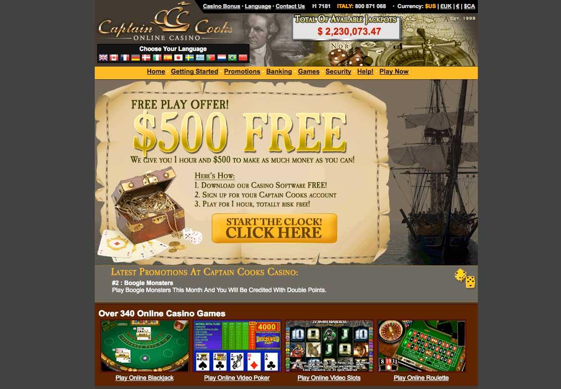 captain cook casino review